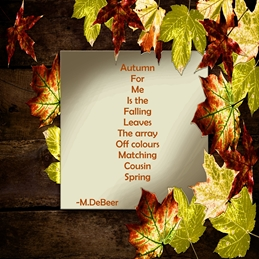 general brown, leaves, autumn, personalised online greeting card