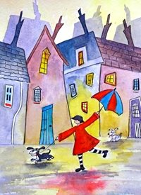 EmilyJane Don't Pull! Art artwork funny dog quirky for-her personalised online greeting card