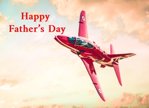Fathers Fathers Day, father's, Dad, -him, granddad, aeroplane, jet, blue, red, white, raf,  personalised online greeting card