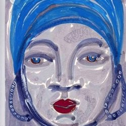 General face,watercolour,ethnic personalised online greeting card