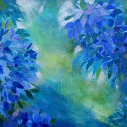 art Hydrangeas II fine art painting abstract personalised online greeting card
