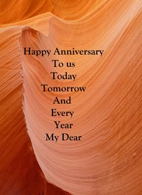 Anniversary for-him, for-her, sand, desert, love, celebration personalised online greeting card