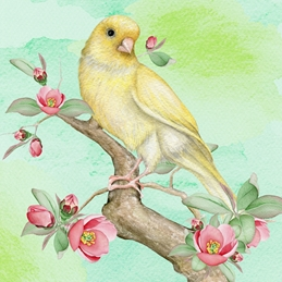 General GENERAL NOTELET bird personalised online greeting card