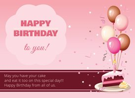Birthday Cake z%a personalised online greeting card