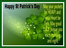 St Patricks Irish, celebrate, clover, happy, lucky, charm,  personalised online greeting card