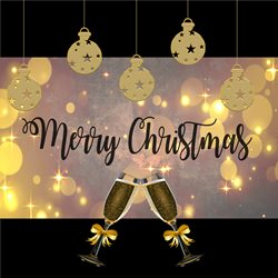 Christmas Champagne z%a personalised online greeting card