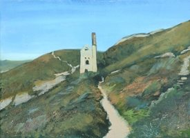 art  Cornwall, Coast, Engine House, Cornish, Sea, Heritage z%a personalised online greeting card