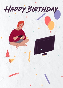 Happy Birthday Gaming Card