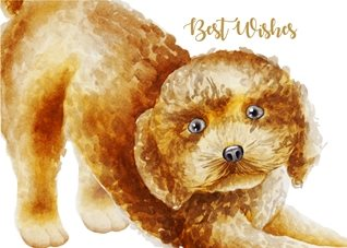 Birthday Cute, Animal, Puppy, Dog,  personalised online greeting card