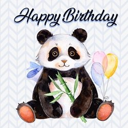 Birthday Children Panda, Animal,  personalised online greeting card