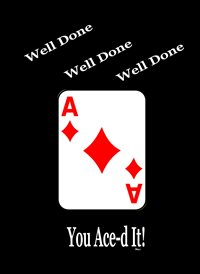 congratulations Ace Diamonds red white black fun z%a personalised online greeting card