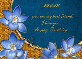 Frontloader Cards Mom Birthday Card Birthday mom Mum Mother mummy  Flowers z%a personalised online greeting card