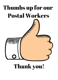 Thumbs up for postal workers