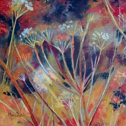 art Cow Parsley painting abstract birthday  card personalised online greeting card