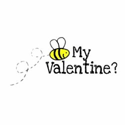 Valentine Bee, Valentines,  personalised online greeting card
