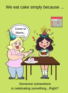 Birthday general For Her  Light Humour Cake Lovers Funny joke Ladies Cake  personalised online greeting card