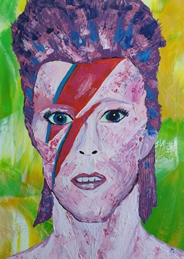 David Bowie Ziggy Stardust  personalised online greeting card