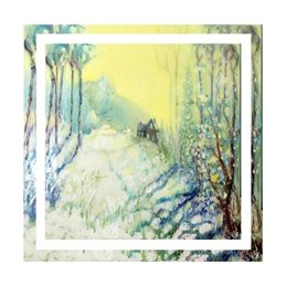 art christmas winter, landscape, painting, snow,  personalised online greeting card