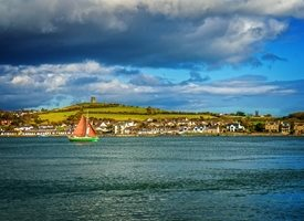 Photography  sea, coast, sailing, yacht, sail boat, Portaferry, Strangford, Ards, Bangor,  inspiration, happy, joy, optimistic, peaceful, tranquil, serene, warm, birthday, for-him, for-her, andbc personalised online greeting card