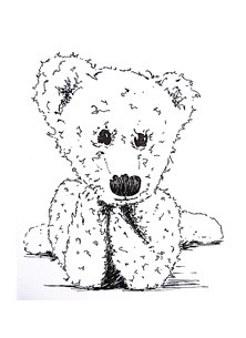 General Teddy, Bear, Drawing, personalised online greeting card