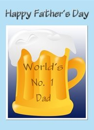 beer,, dad personalised online greeting card