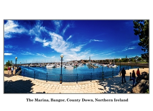 NorthLight Photo-Art Bangor Marina 1 andbc, Bangor, harbour, marina, coast, sea, ireland, ^northern ireland^ personalised online greeting card