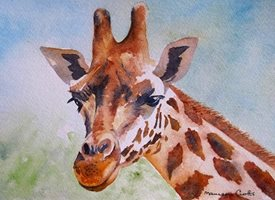Art artwork giraffe animals wildlife for-him for-her personalised online greeting card