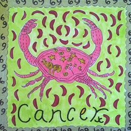 birthday card cancer zodiac sign