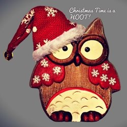 Christmas hoot owls animals z%a personalised online greeting card