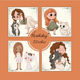 Her Nibs  Birthday Wishes - Girl personalised online greeting card