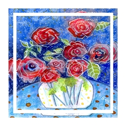 Valentine Valentine, Red Roses, flowers, love, her, personalised online greeting card