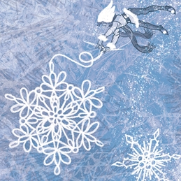 Knitting, Snowflakes, Winter, Winter Solstice, Jack Frost, Fairy, Icicle, North Pole, Holidays  personalised online greeting card
