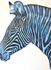 Antonio Pozo Blue Zebra art Zebra animals z%a personalised online greeting card