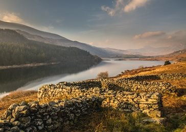 Photography lake, wales, water, landscape, sunrise, scenic personalised online greeting card