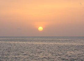general Maldives sunset sea sun water beauty evening waves personalised online greeting card