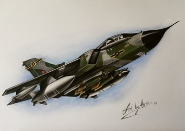 art tornados planes war aircrafts general blank all occasions for-him for-child boyfriends dads uncles brothers birthday military army raf sky wings for-him fathers personalised online greeting card