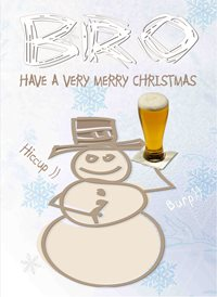 Christmas Bro Brother Beer Snowman Snow z%a personalised online greeting card