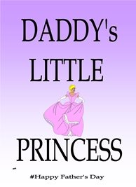 Her Nibs  Daddy's little princess Fathers dad White Black personalised online greeting card
