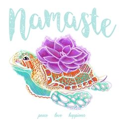 General namaste, yoga, peace, love, happiness, friendship, thank you, appreciation, grateful, life, love, couples, friends, positive, positive vibes, vibes, serenity, well wishes, good luck, succulent, flowers, sea turtle, turtle, marine, coral reef, ocean, fitness, healthy, self-love, wellness, health personalised online greeting card