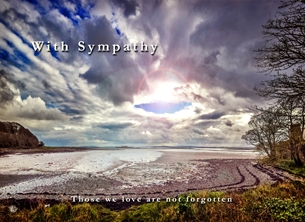 Sympathy sympathy, condolence, bereavement, tranquil, spiritual, serene, sunset, coast, seascape, photographic, scenic personalised online greeting card