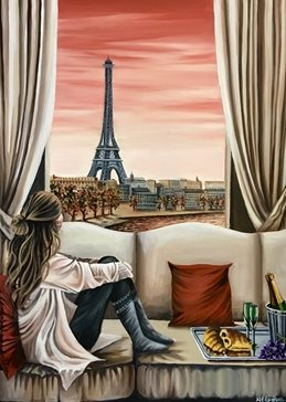 art Anniversary her mums girlfriends Paris Eiffel Tower rivers Cities sunsets woman glasses croissants food celebrations lovers sofas red holidays romance romantic birthday lovers sisters valentines girlfriends boyfriends couples for-him for-her  personalised online greeting card