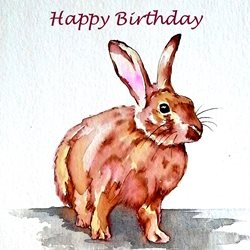 Birthday rabbits animals pets dad son  granddad  uncle mum daughter Nan aunt friend personalised online greeting card