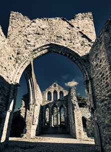 Photography ANDBC, monument, abbey, church, religious, spiritual, tranquil, for-him, for-her, Grey Abbey, Ards, Newtownards, Ards Peninsula, Strangford Lough, County Down,  personalised online greeting card