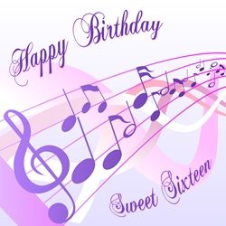 Birthday  sixteen, 16, girl personalised online greeting card