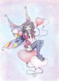 General fairy, love, fantasy, artistic personalised online greeting card