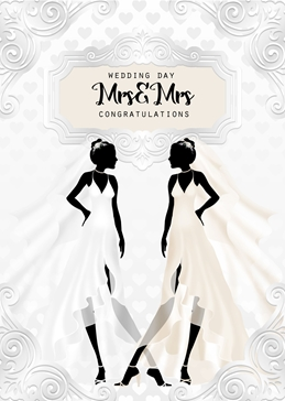 Mrs & Mrs Wedding card for Ladies