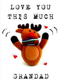 Christmas Reindeer hearts Grandad   z%a personalised online greeting card