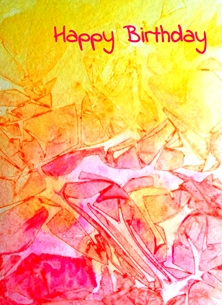 EmilyJane Red and Yellow Birthday artwork abstract red yellow white for-her personalised online greeting card