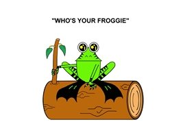 who's your froggie love General children froggie frog animals log fun personalised online greeting card