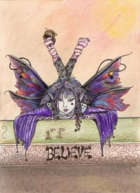 General Fairy, gothic, fanatasy personalised online greeting card